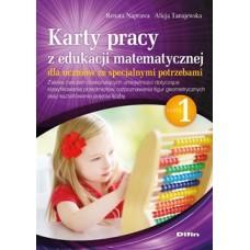 Karty pracy z edukacji matematycznej dla uczniów ze specjalnymi potrzebami. Część 1. Zakres ćwiczeń doskonalących umiejętności dotyczące klasyfikowania przedmiotów, rozpoznawania figur geometrycznych oraz kształtowania pojęcia liczby