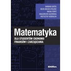 Matematyka dla studentów ekonomii, finansów i zarządzania