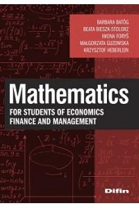 Mathematics for students of economics, finance and management