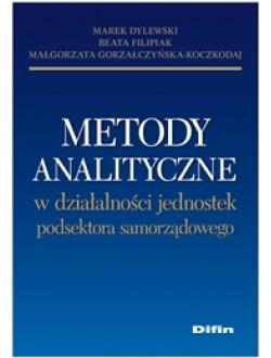 Metody analityczne w działalności jednostek podsektora samorządowego