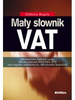 Mały słownik VAT 50% rabatu