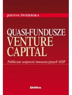 Quasi-fundusze venture capital. Publiczne wsparcie innowacyjnych MSP